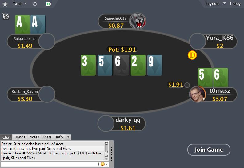 PokerStars mod NLH SD