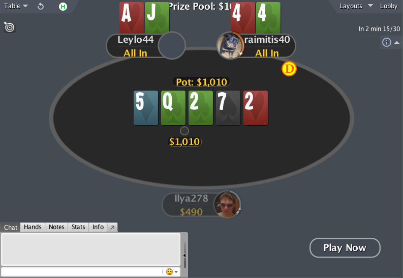 PokerStars mod spin&go table AI