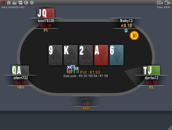Winamax card mod NLH 2