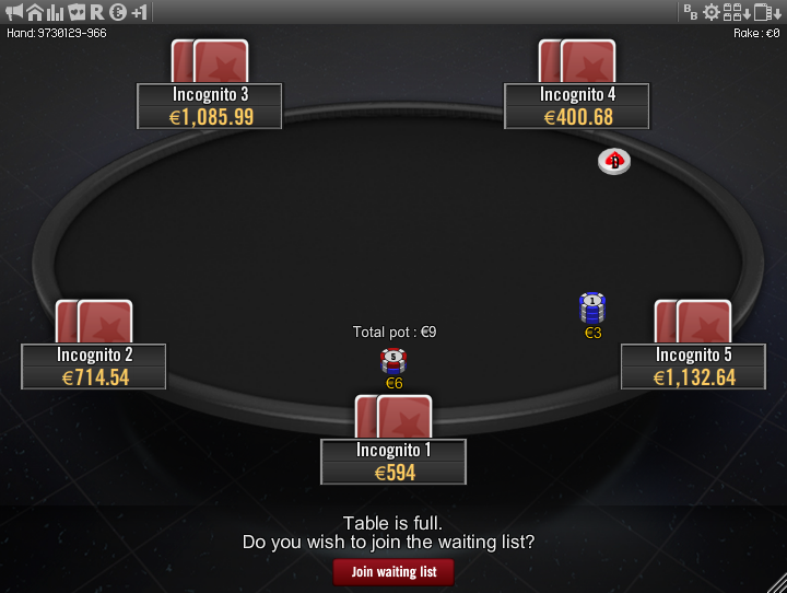 Winamax Stars clone table mod 11