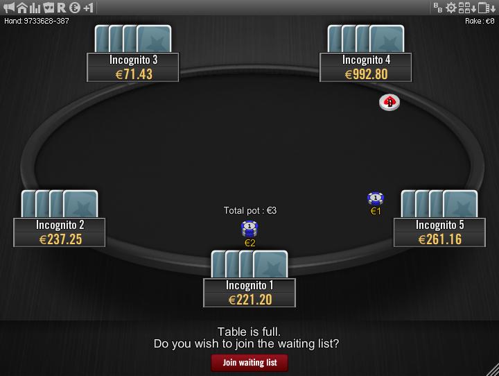 Winamax Stars clone table mod 12