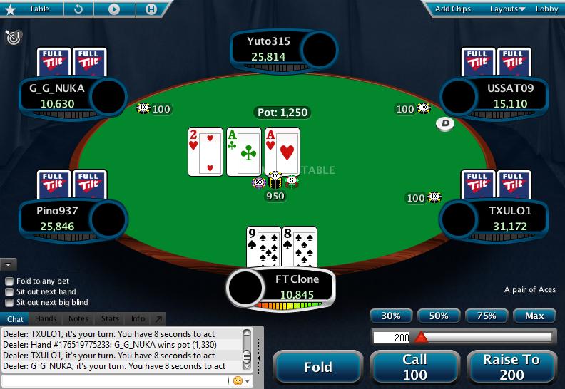 Full Tilt Clone for PokerStars 01