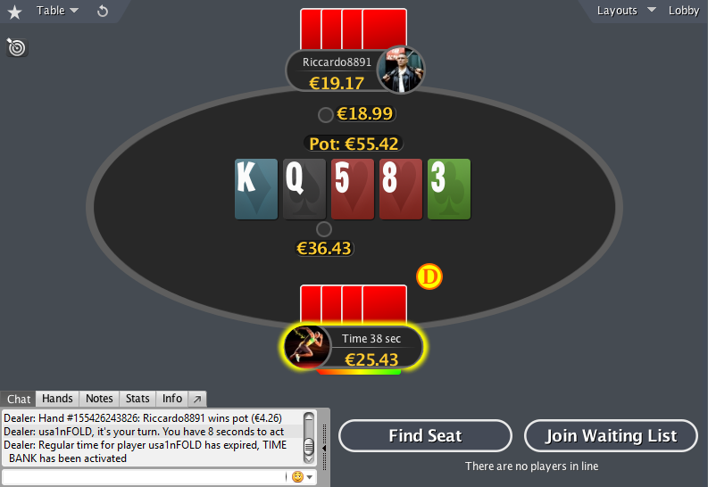PokerStars mod PLO HU table