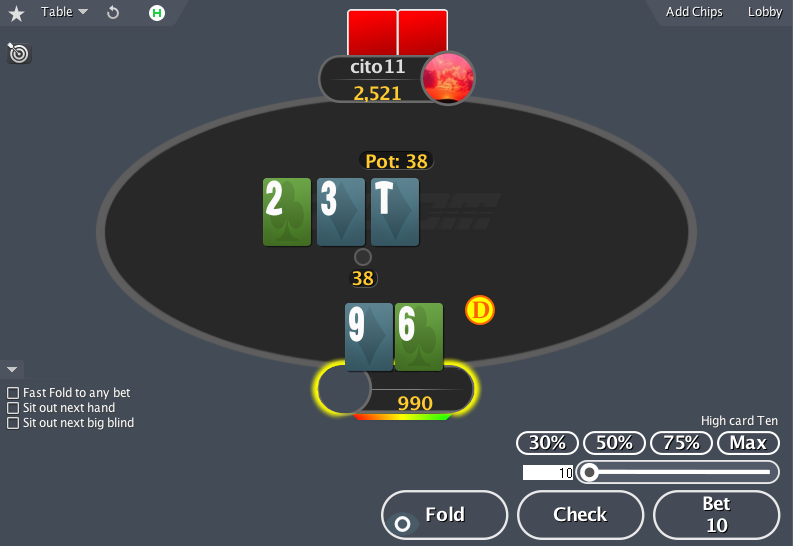 PokerStars mod action buttons
