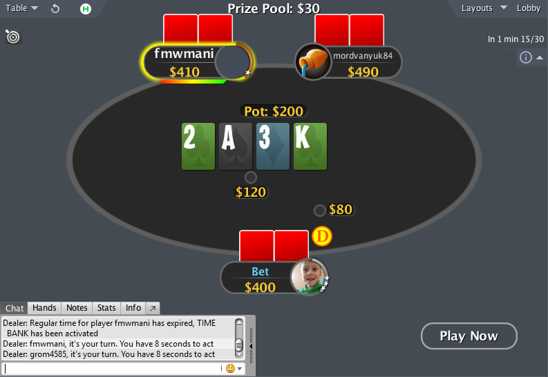 PokerStars mod spin&go table