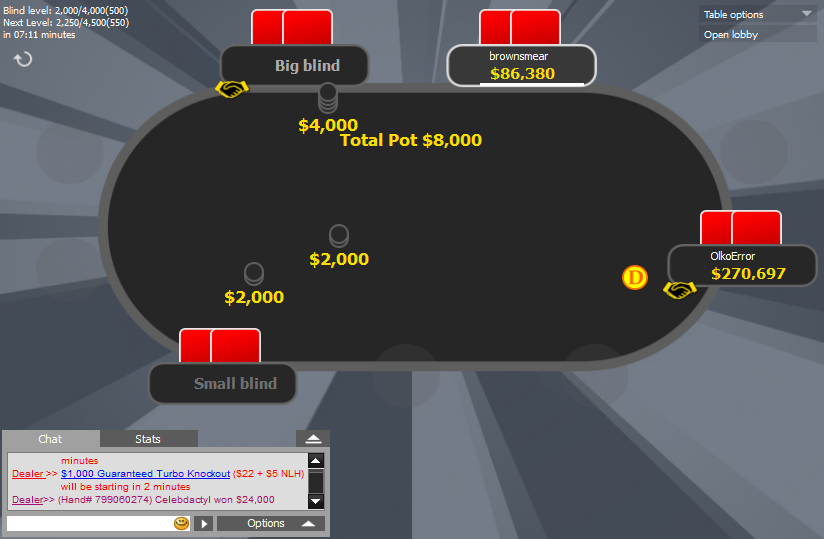 888 mod final table