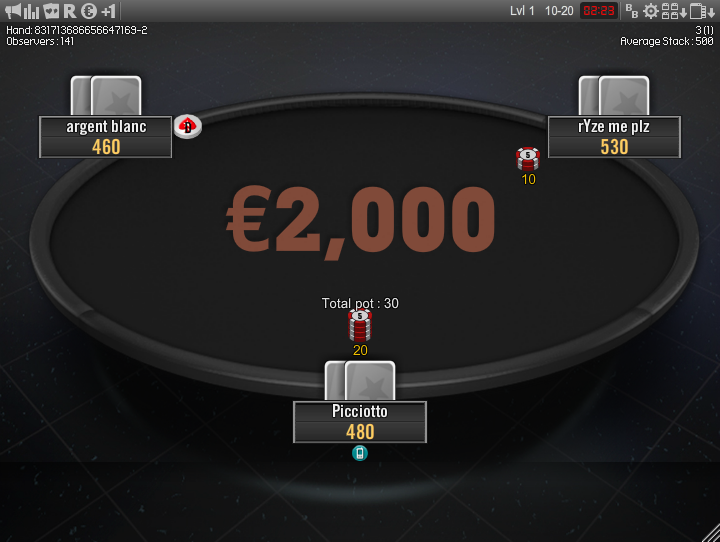 Winamax Stars clone table mod 16