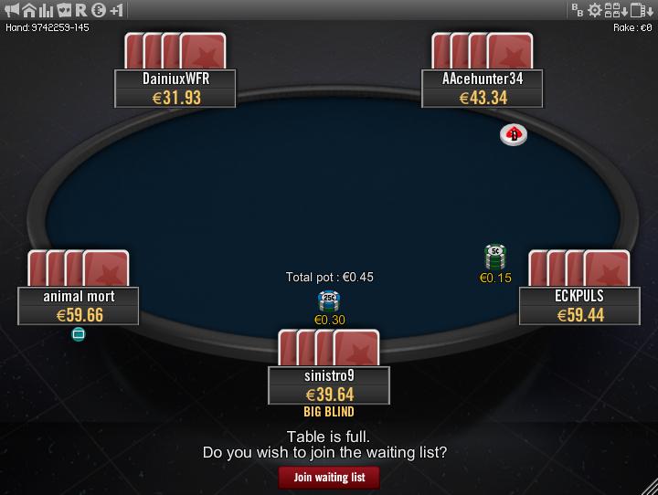 Winamax Stars clone table mod 18