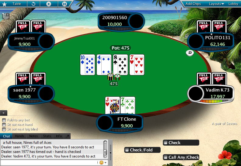 Full Tilt Clone for PokerStars 02
