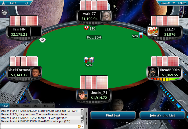 Full Tilt Clone for PokerStars 16.1