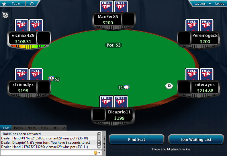 Full Tilt Clone for PokerStars 18.1