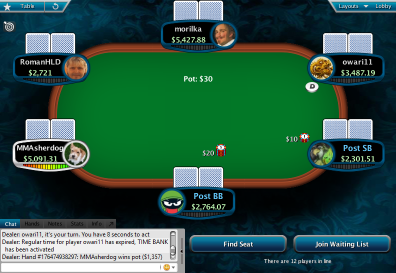 Full Tilt Clone for PokerStars 23