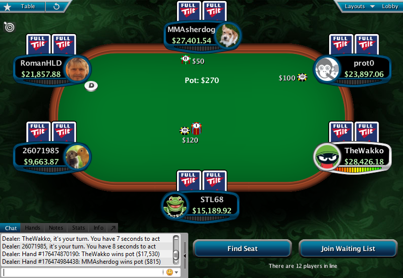 Full Tilt Clone for PokerStars 25