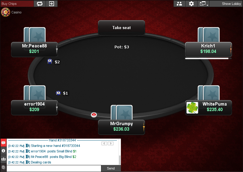 PokerStars Clone for Chico 15
