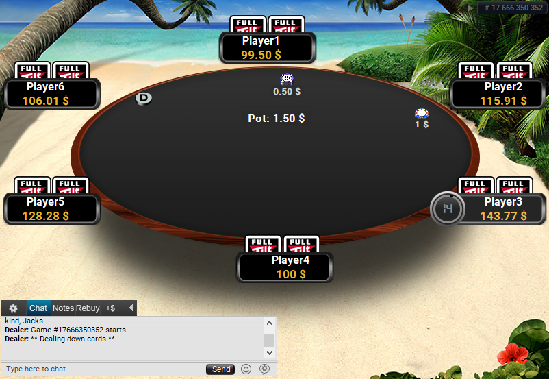 Full Tilt Clone for PartyPoker Beach Black table
