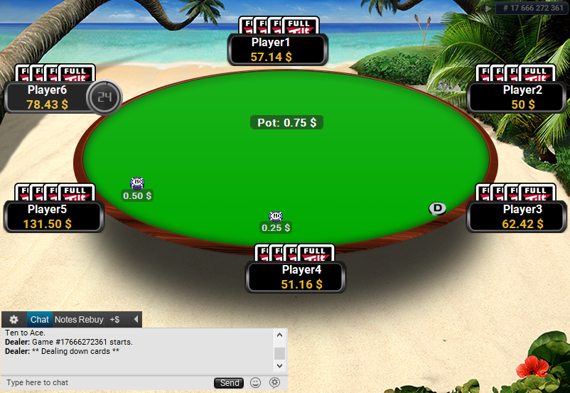 Full Tilt Clone for PartyPoker Beach table