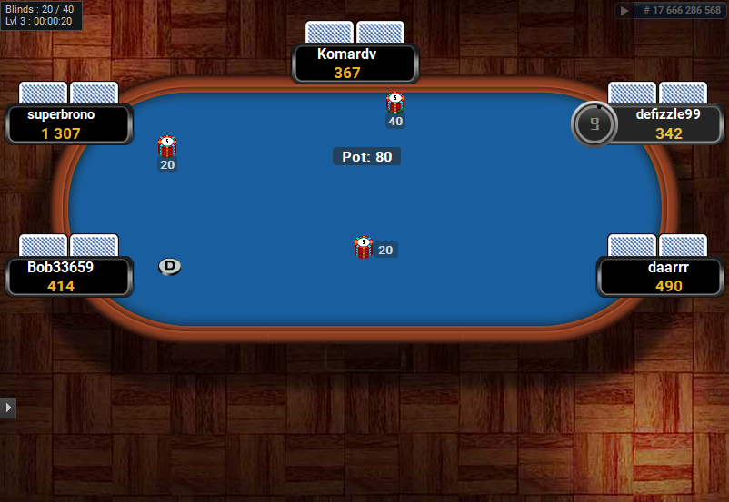Full Tilt Clone for PartyPoker Blue Racetrack table