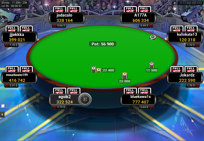 Full Tilt Clone for PartyPoker Final Table Oval