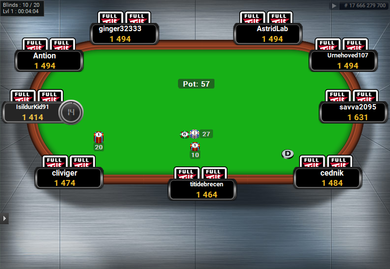 Full Tilt Clone for PartyPoker Metal Floor