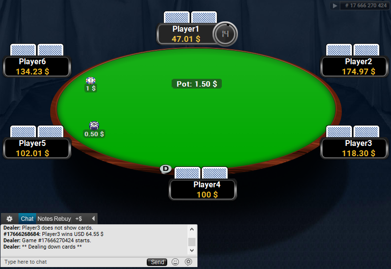 Full Tilt Clone for PartyPoker Midnight table