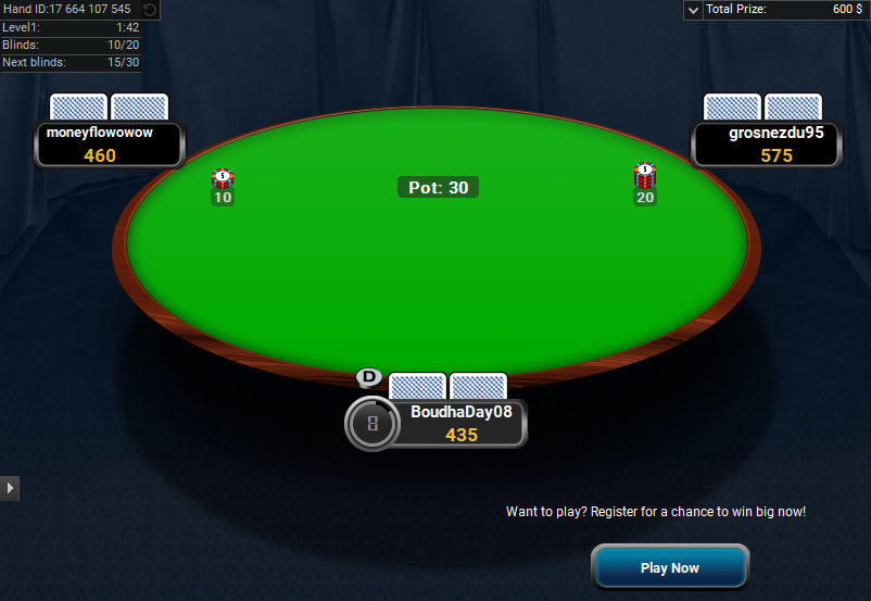 Full Tilt Clone for PartyPoker Spind and Go Hero table