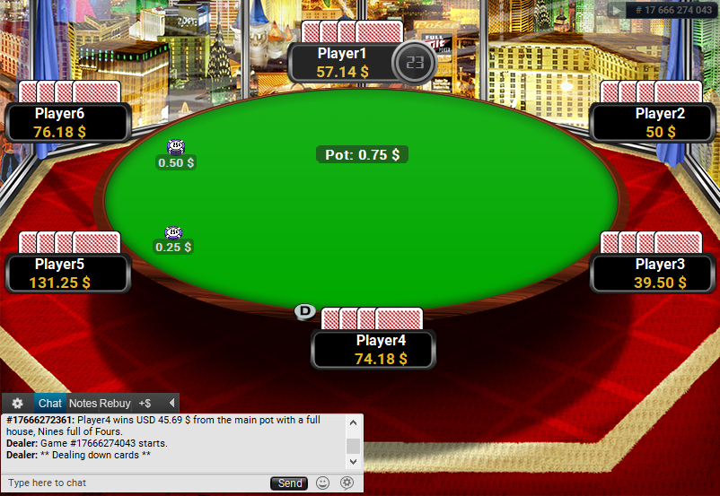 Full Tilt Clone for PartyPoker Vegas Skyline table