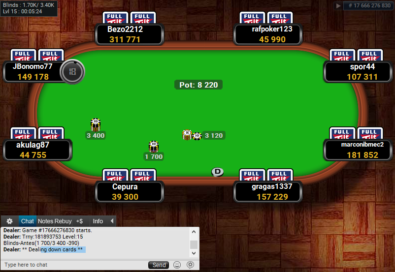 Full Tilt Clone for PartyPoker Wood Floor