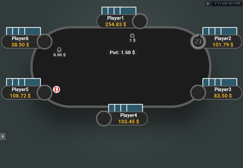 GTO V.2 for PartyPoker 6-max PLO Blue