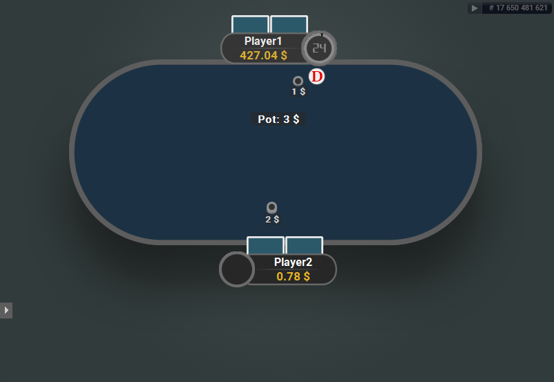 GTO V.2 for PartyPoker Heads-Up Blue Table