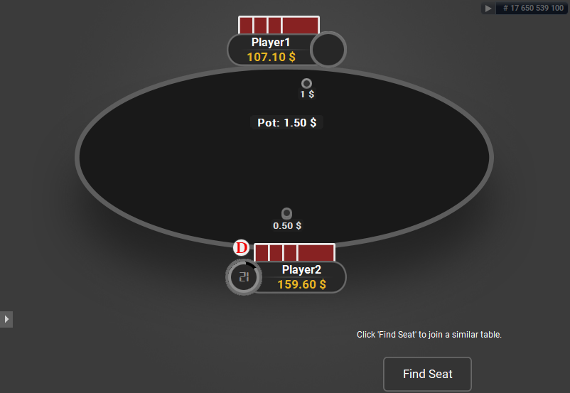 GTO V.2 for PartyPoker Heads-Up Oval Table