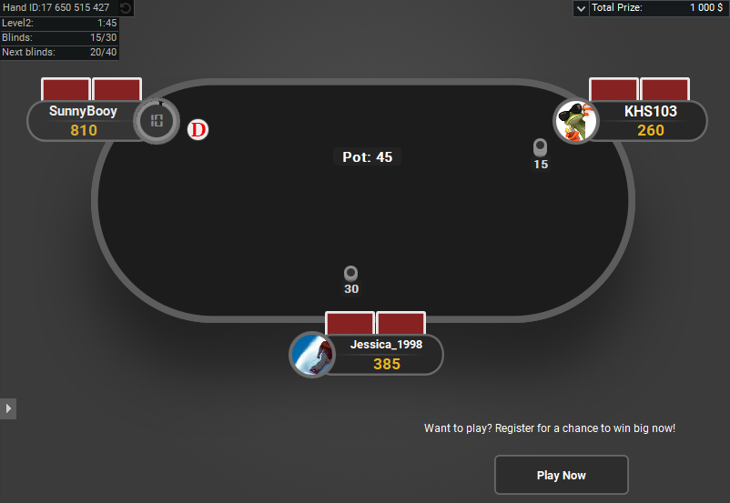 GTO V.2 for PartyPoker Spin and Go Hero