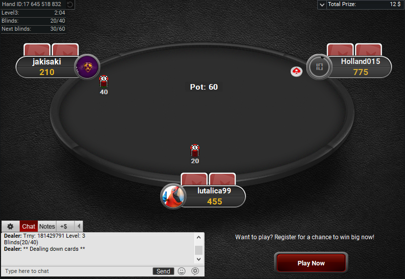 PokerStars Clone for PartyPoker Black Table Spin and Go Hero
