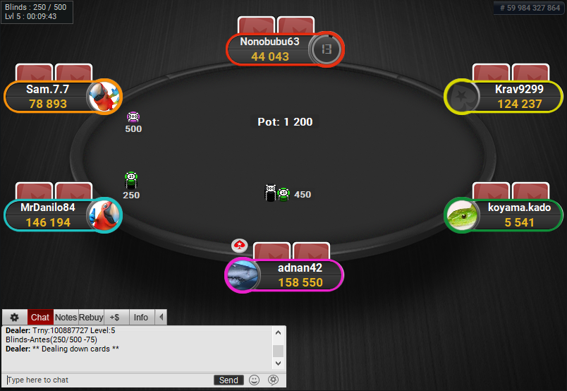 PokerStars Clone for PartyPoker Coloured Notes