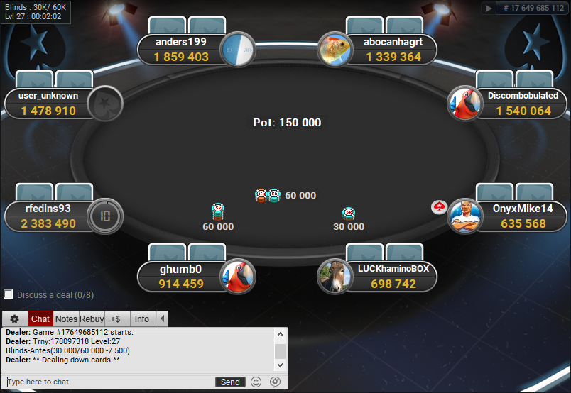 PokerStars Clone for PartyPoker Final Table
