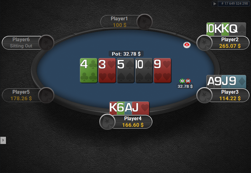 PokerStars Clone for PartyPoker PLO Showdown Quasar Cards