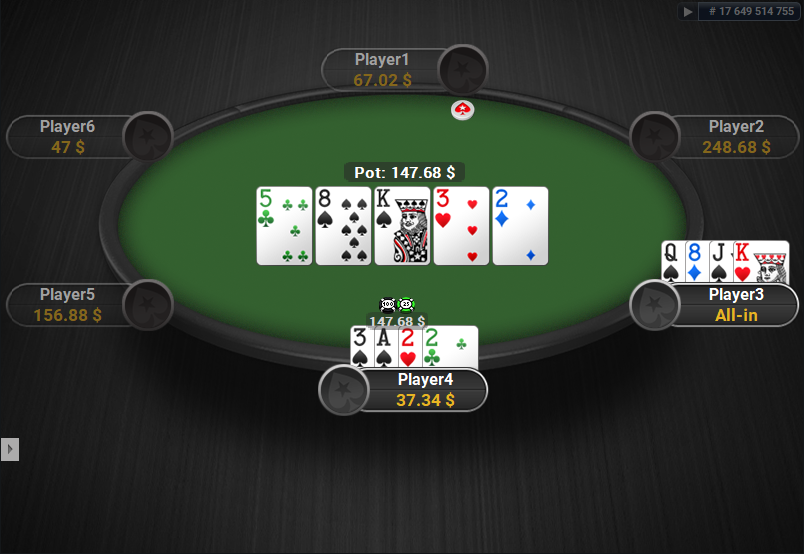 PokerStars Clone for PartyPoker PLO Showdown White Cards