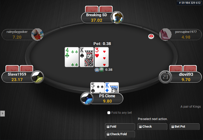 PokerStars Clone for PartyPoker Pre-action Buttons