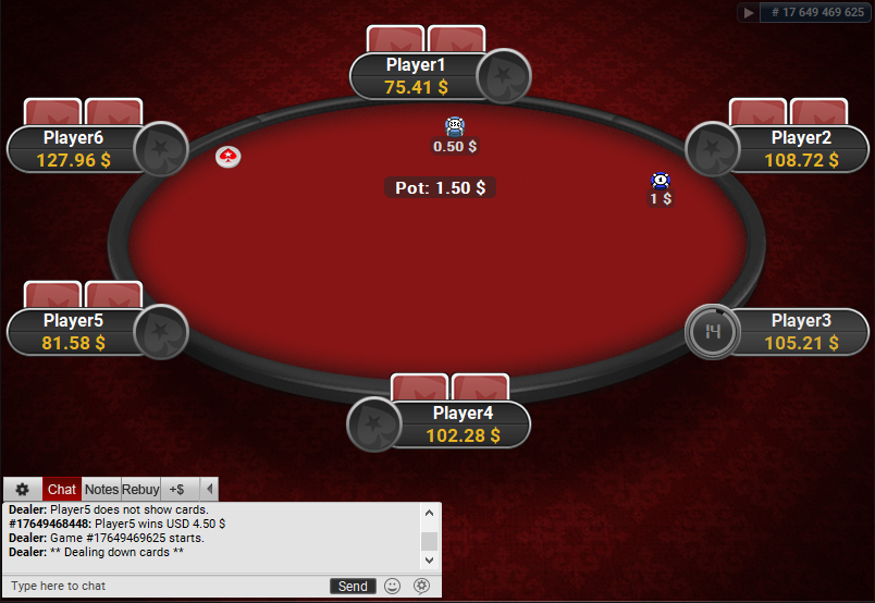PokerStars Clone for PartyPoker Red Table and Carpet