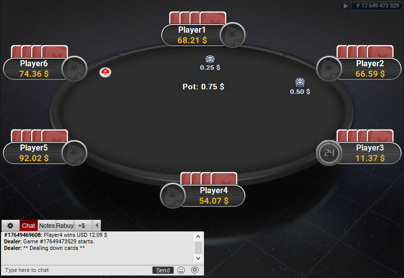 PokerStars Clone for PartyPoker Reflective BG