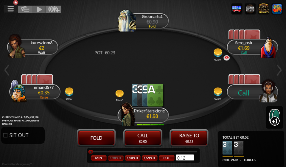 Table Theme PokerStars Clone for MPN Prima 03