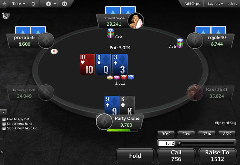 PartyPoker Clone for PokerStars Action Buttons