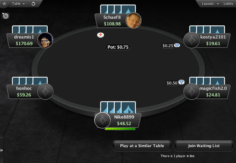 PartyPoker Clone for PokerStars Dark Blue Card Backs