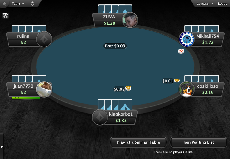 PartyPoker Clone for PokerStars Dark Blue Felt