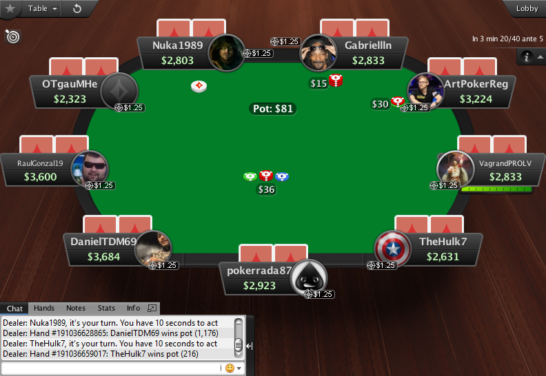 PartyPoker Clone for PokerStars MTT Table Green