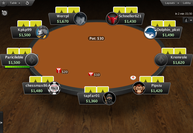 PartyPoker Clone for PokerStars Orange Felt