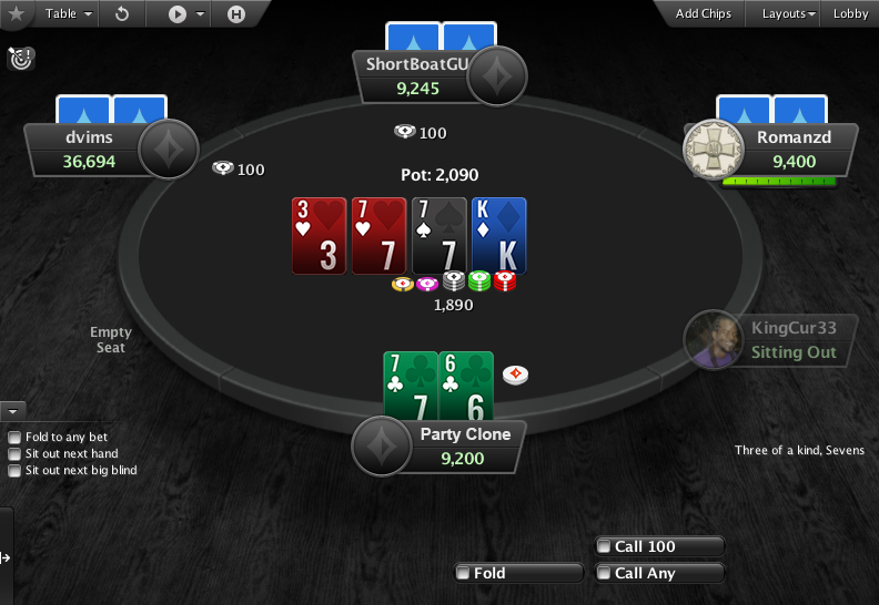 PartyPoker Clone for PokerStars Pre-action Buttons