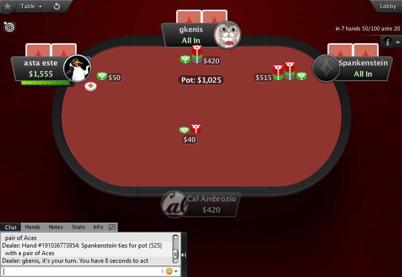 PartyPoker Clone for PokerStars Red Felt