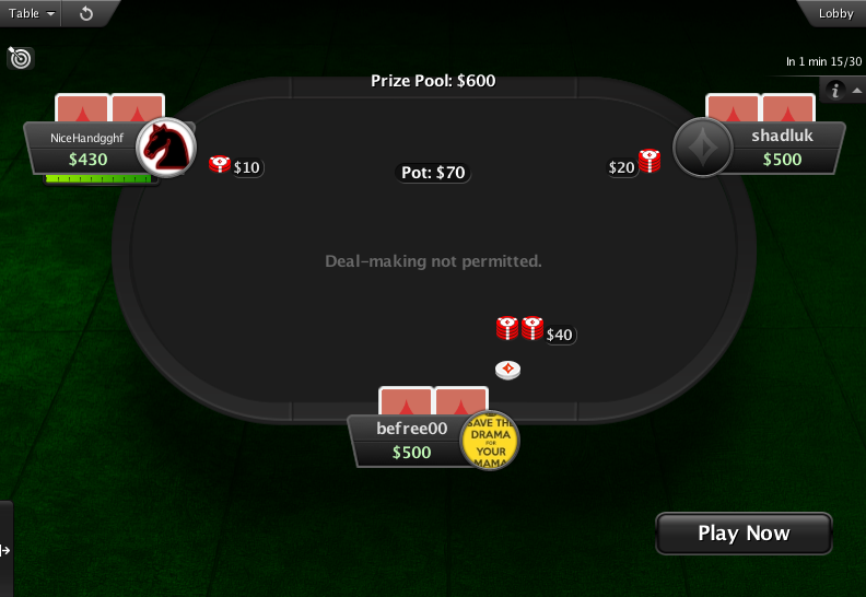 PartyPoker Clone for PokerStars Spin And Go Table 2