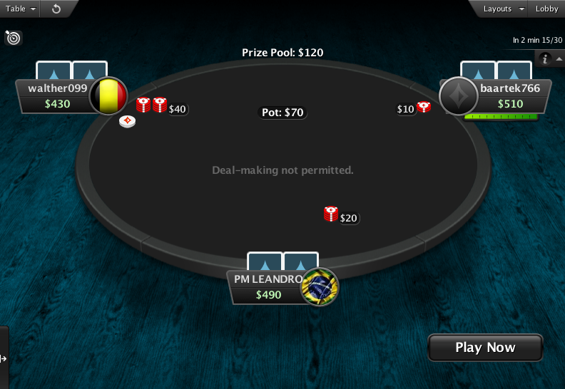PartyPoker Clone for PokerStars Spin And Go Table