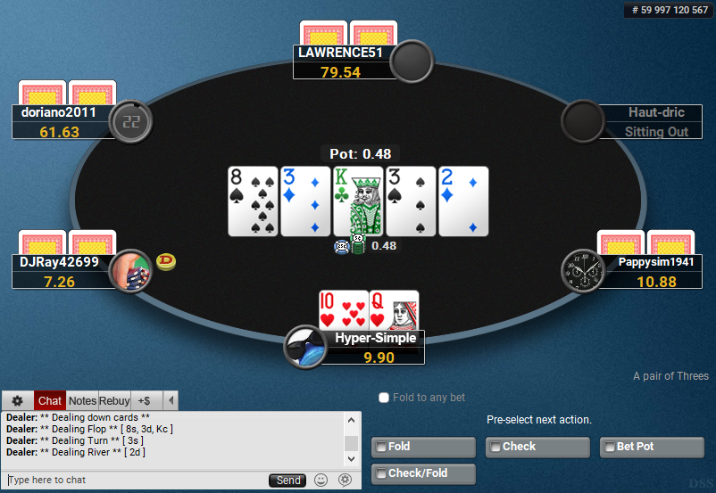 02 PartyPoker Table Theme Hyper-Simple Pre-action Buttons